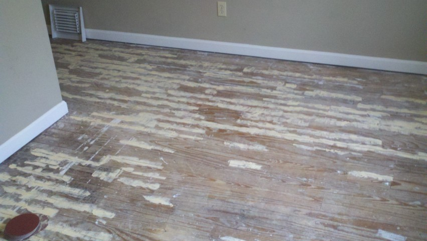 damaged wood floor surface
