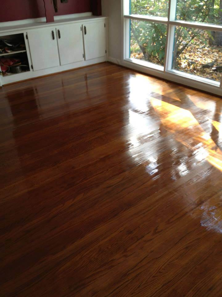 an updated and renewed hardwood floor surface