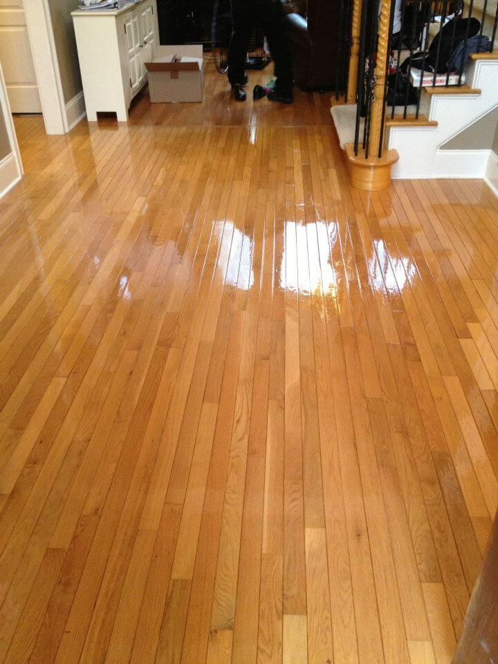 After hardwood floor resurfacing in MIlwaukee WI