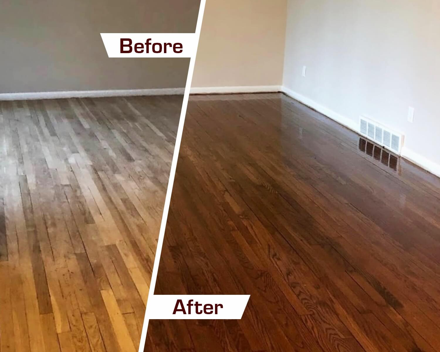 milwaukee before and after hardwood floor refinishing