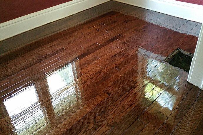a resurfaced hardwood floor in a granville bedroom